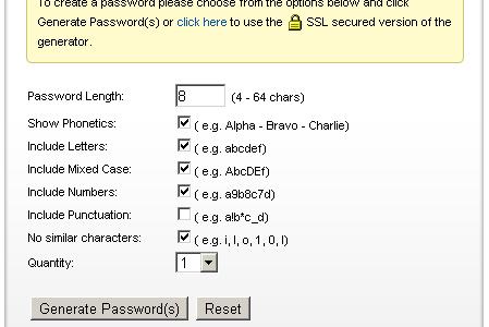 PC Tools Password Generator